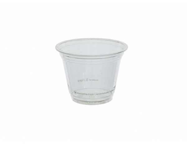 Trinkbecher 270 ml transparent - 50 Stück, kompostierbar aus P.L.A.